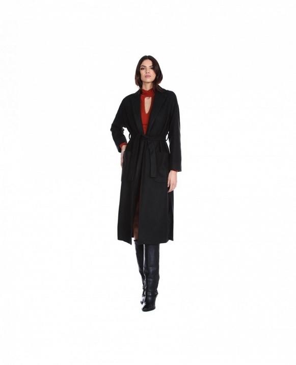 Abrigo de manga larga RAISE con cinturón y bolsillos de parche RELISH