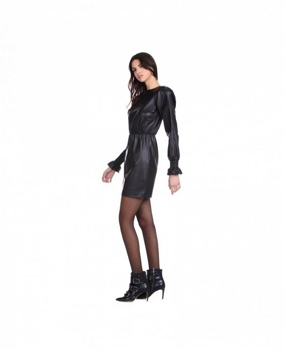 aSANFERT vestido corto de manga larga RELISH