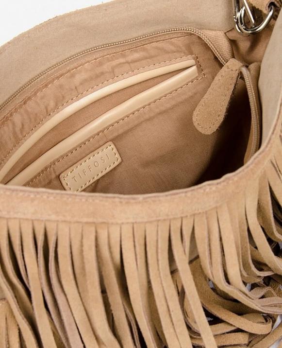Bolso antelina flecos
