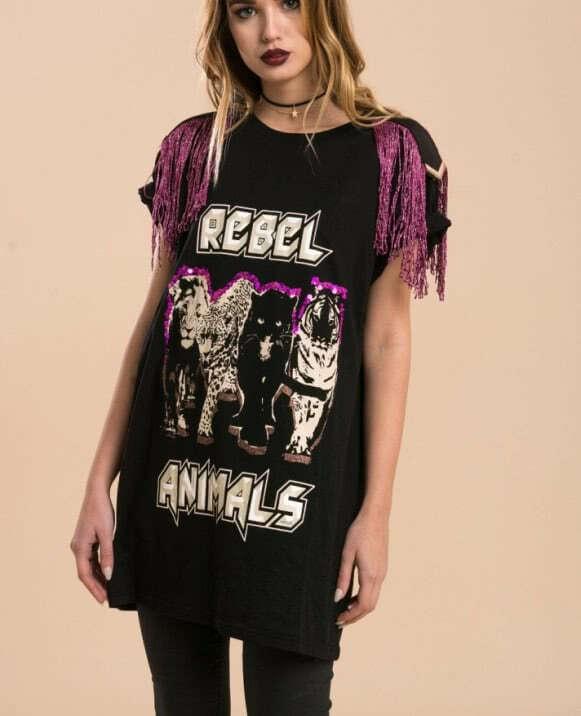 Camiseta tipo vestido reebel