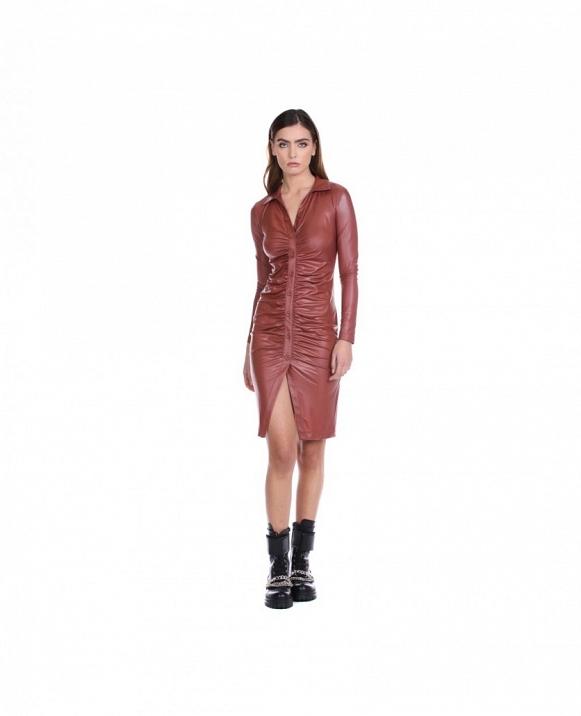 INCAS vestido camisero corto de manga larga RELISH