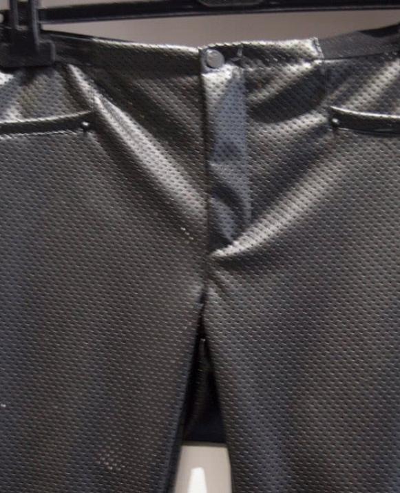 Pantalón chino, súper pitillo, tejido brillante