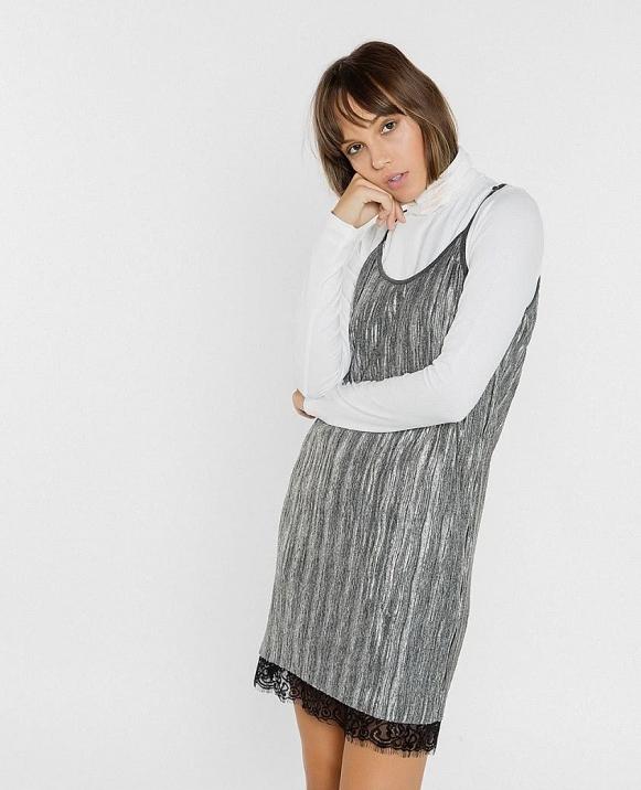 vestido  corto lencero