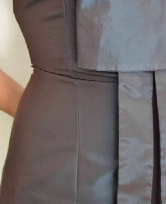 Vestido FELI CAMPO brillo lazo cintura