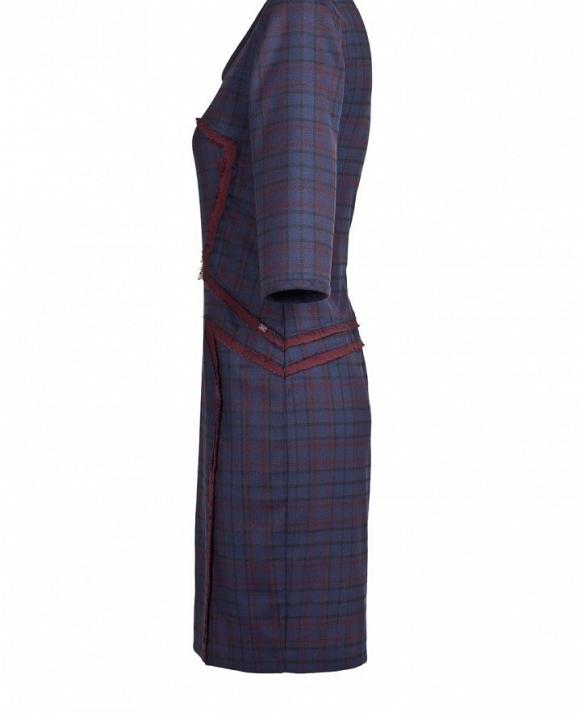 Vestido manga francesa, detalles raso