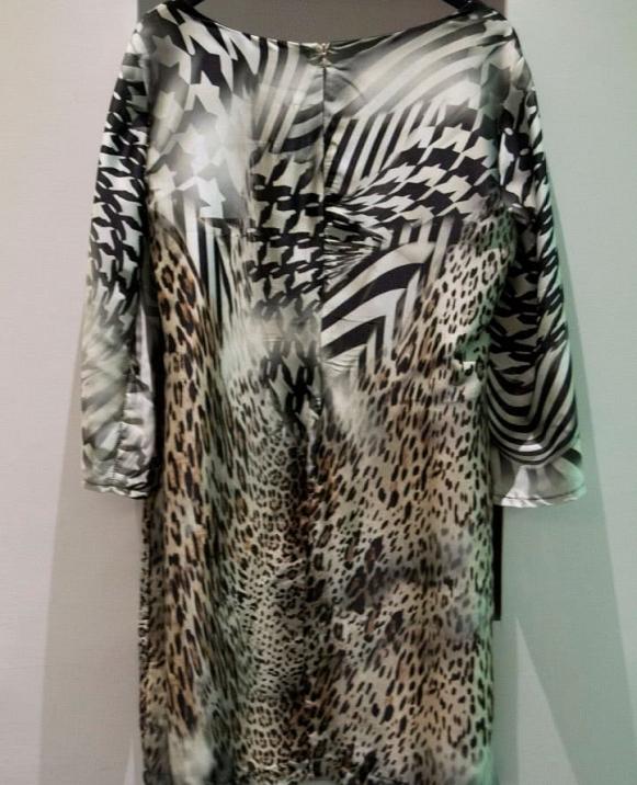 Vestido tipo túnica, animal print